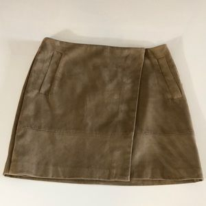 NWT:  faux suede fully lined skirt size 10